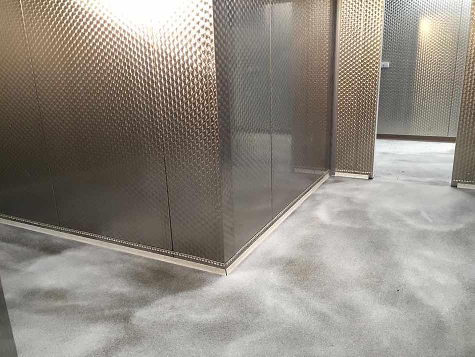 Plaatsing van een gietvloer op basis van acrylaat devafloor