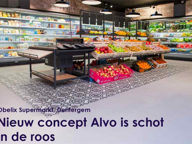 Nouveau sol coulé pour supermarché Alvo