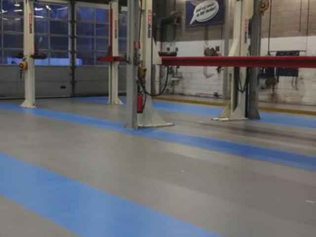 Nouveau sol en acrylate en 2 couleurs avec finition antidérapante à Zoeterwoude - 4